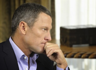 Armstrong admitted to using performance-enhancing drugs in an interview with Oprah earlier this year.