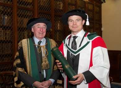 BOD with Dr Maurice Manning, Chancellor of the National University of Ireland, at today's ceremony.