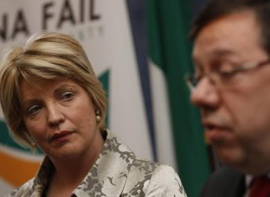 Mary Coughlan with former Taoiseach Brian Cowen.