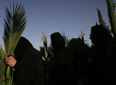File photo of Greek Orthodox nuns