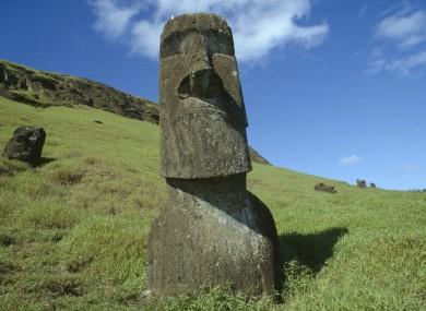 A moai statue on Easter Island.