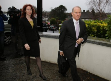 Dr Richard Haass and Harvard Professor Meghan O'Sullivan arrive at the Stormont Hotel in Belfast.