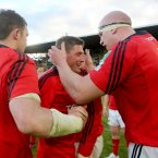 The Munster out-half was capped 128 times for Ireland and won the Grand Slam in 2009.<span class=