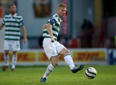 Ryan in action for Shamrock Rovers last season.