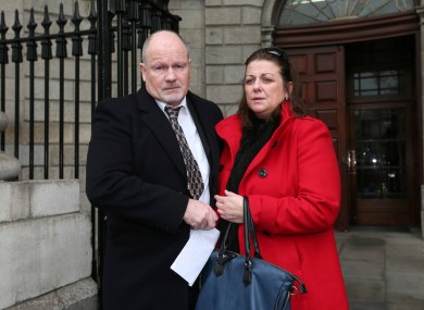 Roisin Conroy's parents, Kevin and Mary, outside the High Court last week. Their daughter's case dragged out for over a decade.