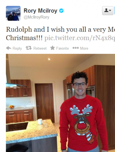 Merry Christmas, Rory! It's the sporting tweets of the week