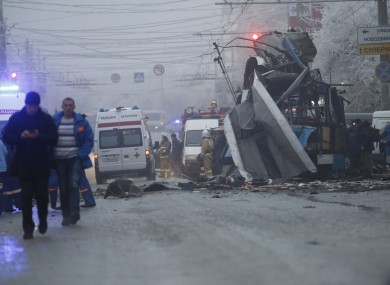 The explosion on a trolleybus on Monday