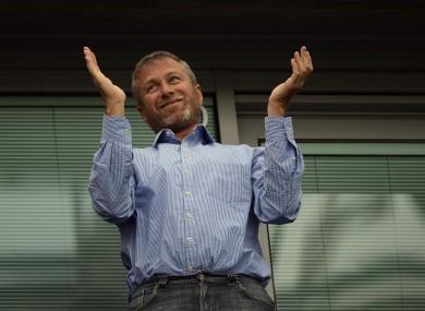 Blue boy: Chelsea owner Roman Abramovich.