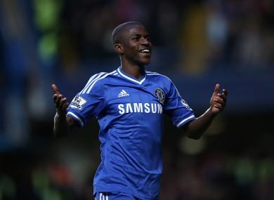 Ramires celebrates his goal.