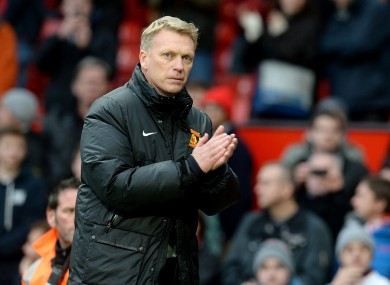 Manchester United manager David Moyes after the final whistle on Saturday.