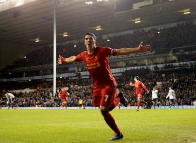 Suarez: his goals helped one punter to a £30,000 windfall today.
