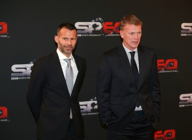 Ryan Giggs and David Moyes arriving for the Sports Personality of the Year Awards 2013 last night.