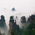 Escape to the Tianzi Mountain Nature Reserve in Wulingyuan, China, which consists of
