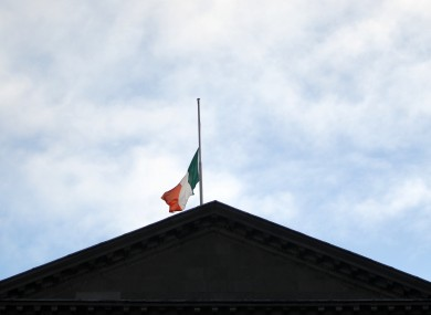 The flag over Leinster House flies at half-mast on Friday for Nelson Mandela.