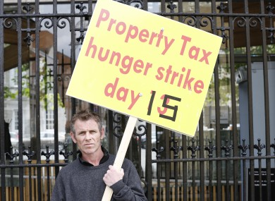 Tony Rochford during his Dáil hunger strike