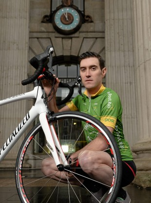 McLaughlin at yesterday's Ras launch at the GPO.