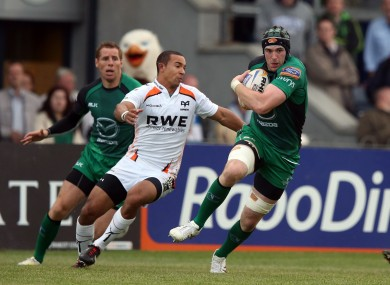 Andrew Browne on the charge against Ospreys.