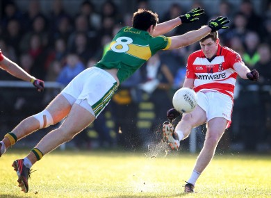 Kerry's Anthony Maher and CIT's Donal Óg Hodnett.