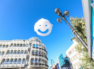 The Happy Clouds exhibition by Stuart Semple, who has collaborated with Lady Gaga, launches First Fortnight.