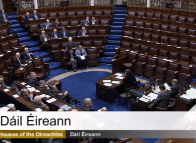 The Dáil chamber (File photo)