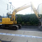 The digger used in the robbery.<span class=