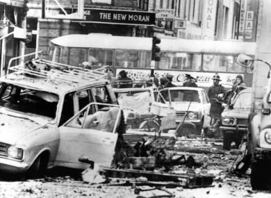 The aftermath of the Talbot Street bombing that killed 25 people in May 1974.