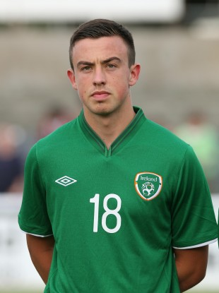 Eoghan O'Connell before an Irish U19 friendly earlier this year.