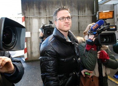 Michael Schumacher's brother Ralf arrives at Grenoble Hospital yesterday.