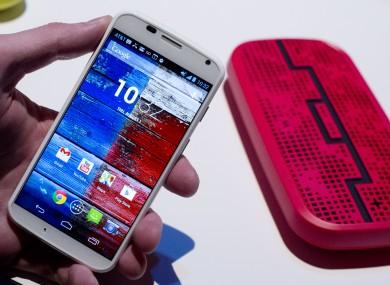 The Motorola Moto X smartphone