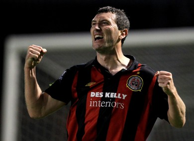 Byrne playing for Bohs in 2010.