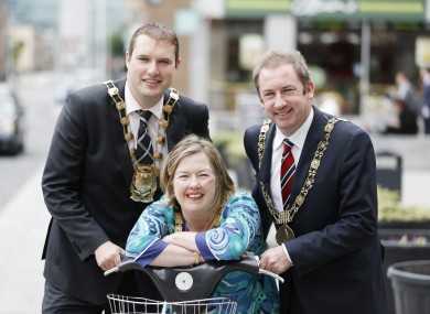 Looney (left) with now former Labour colleagues Oisin Quinn and Carrie Smyth.