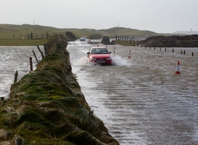 Road flooding in Lahinch Co. Clare.