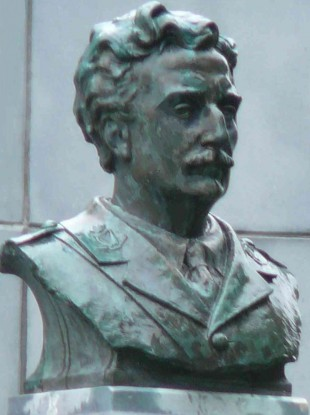 A bronze bust of Redmond in Redmond Memorial Park, County Wexford.