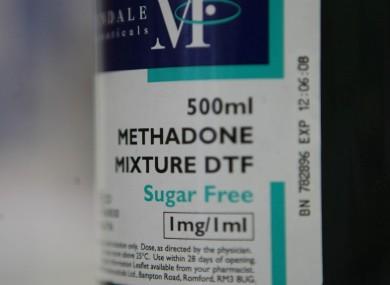 A bottle of methadone in a pharmacy in Dublin city centre