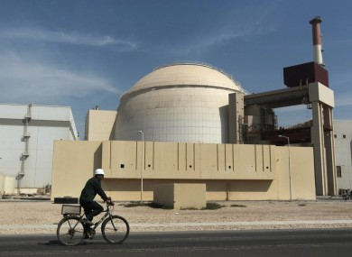 The reactor building of the Bushehr nuclear power plant, just outside the southern Iranian city of Bushehr