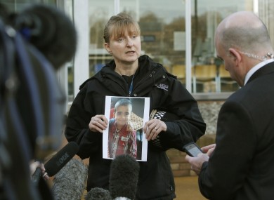 Superintendent Liz McAinsh appeals for information at Fettes Police Station in Edinburgh after three-year-old Mikaeel Kular went missing.