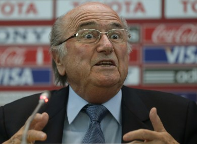 Sepp Blatter has acknowledged more needs to be done to tackle the issue of diving in football.