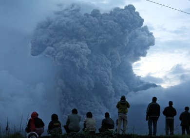The latest eruption of Mount Sinabung, which had been quiet for 400 years.