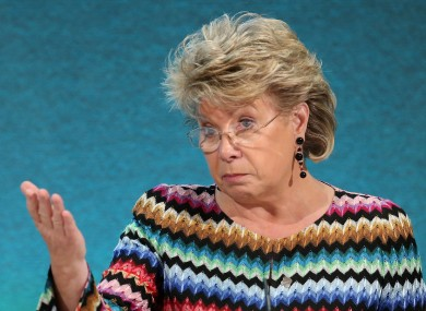 The EU Justice Commissioner Viviane Reding.