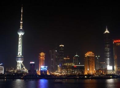 The skyline of Shanghai