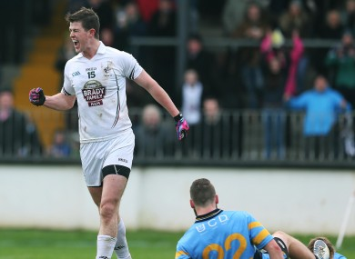 Padraig Fogarty celebrates scoring a goal.