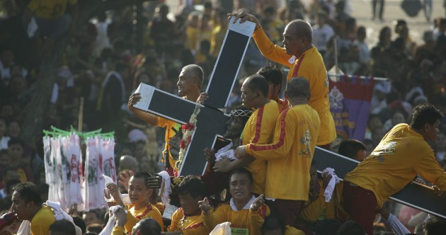 Pictures: Millions of barefoot devotees take part in Manila 'Black Nazarene' procession