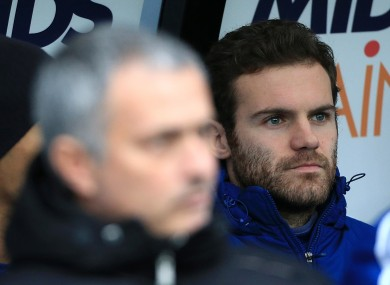 Benched: Mata has been out of favour since Jose Mourinho's return to the Bridge.