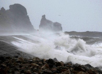 High waves batter Howth