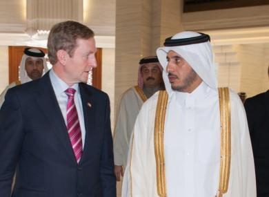 Taoiseach and Fine Gael leader Enda Kenny with Qatari Prime Minister, H.E. Abdullah Bin Nasser bin Khalifa al Thani.