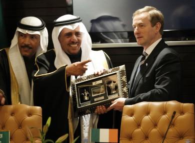 Enda Kenny in Saudi Arabia this week