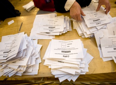 SIPTU votes being counted. (File photo)