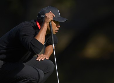 Tiger Woods: top man in the golf world.