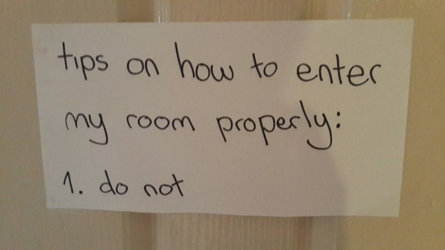 So my sister just put this up on her bedroom door. - Imgur