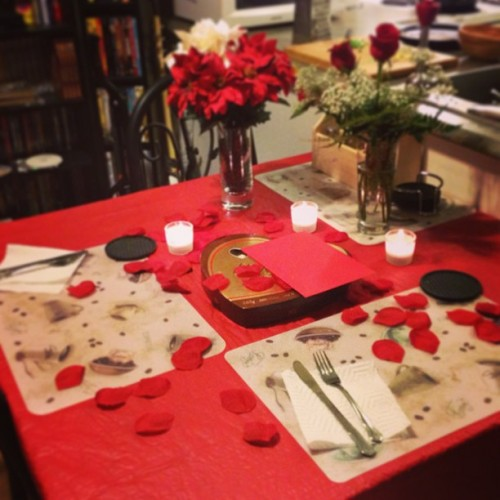 Better late than never Valentine's Day dinner with my sweetheart :) I love you :)